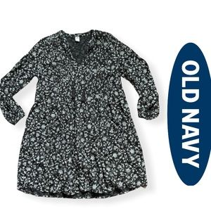 OLD NAVY - Long Sleeve Floral Swing Dress
